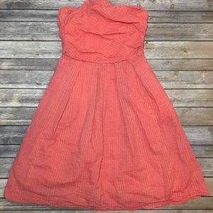 J. Crew Dress Women's 6 Strapless Pink/Coral